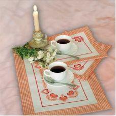 Набор для вышивания Чай вдвоем, 1шт. 60х30; 2шт. 30х30, Овен