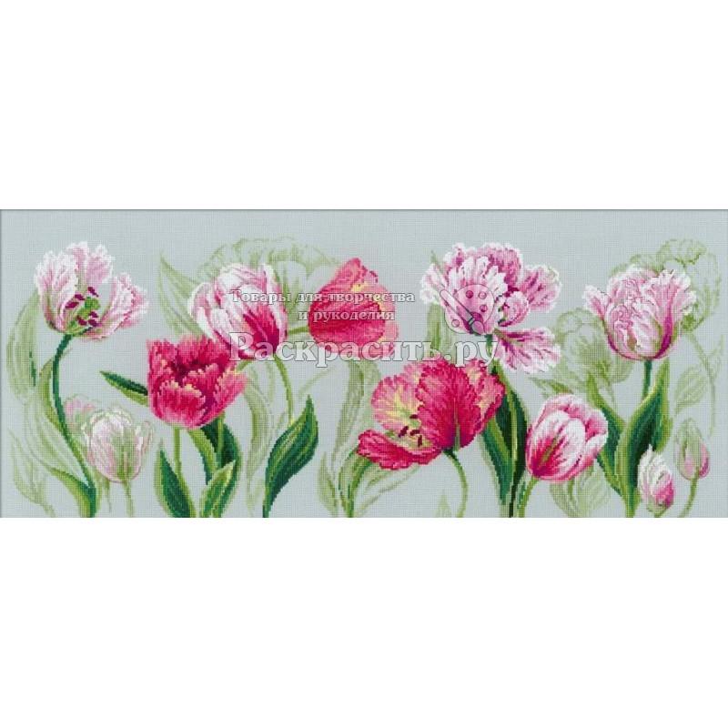 Тюльпаны риолис вышивка скатерть пэ
