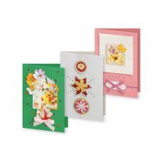 Набор для создания 3-х открыток Вальс цветов, Белоснежка