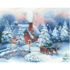 Вышивка крестиком Накануне рождества, 45x35, Риолис