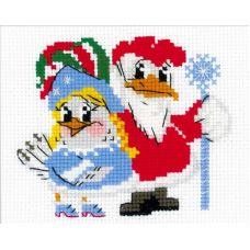 Набор для вышивания Новогодний маскарад, 18x15, Риолис Веселая пчёлка