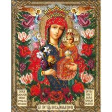 Вышивка бисером Богородица Неувядаемый цвет, 18x22,5, Русская искусница