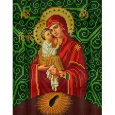 Ткань для вышивания бисером Богородица Почаевская, 20х25, Конек