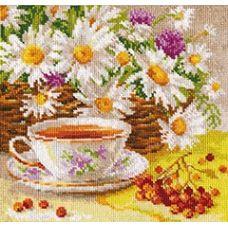 Вышивка Полуденный чай, 18x18, Алиса