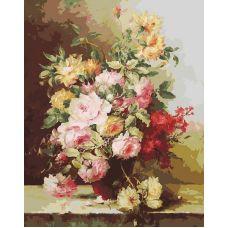 Картина по номерам Букет элегия, 40x50, Белоснежка