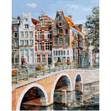 Раскраска Императорский канал в Амстердаме, 40x50, Белоснежка