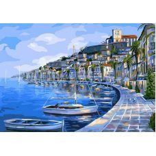 Раскраска Набережная Ибицы, 40x50, Белоснежка