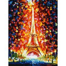 Живопись по номерам Париж - огни Эйфелевой башни, Л. Афремов, 30x40, Белоснежка