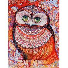 Живопись по номерам на картоне Медовая сова Оксаны Заики, 30x40, Белоснежка