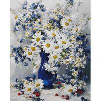 Живопись по номерам Любимые цветы, 40x50, Белоснежка