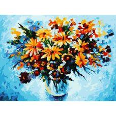 Живопись по номерам Разноцветные ромашки, 30x40, Белоснежка