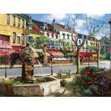 Живопись по номерам Европейский городок, Сун Сэм Парка, 40x50, Белоснежка