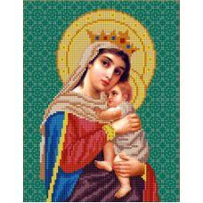 Ткань для вышивания бисером Богородица Отчаянных Единая Надежда, 20х25, Конек