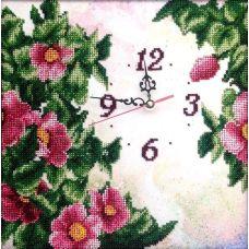 Вышивка бисером на шелке Часы. Изобилие, 29x29, FeDi