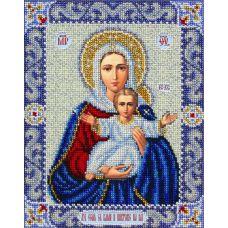 Вышивка бисером Богородица Леушинская, 20x25, Паутинка