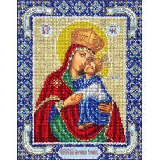 Вышивка бисером Богородица Споручница грешных, 20x25, Паутинка