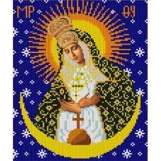 Ткань для вышивания бисером Богородица Остробрамская, 20х25, Конек