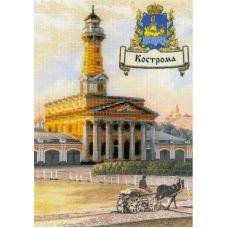 Набор для вышивания Города России. Кострома, частичная вышивка, 21x30, Риолис, Сотвори сама