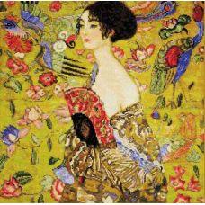 Набор для вышивания Дама с веером. По мотивам картины Г. Климта, 35x35, Риолис, Сотвори сама