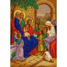 Ткань для вышивания бисером Благословение детей, 29х39, Конек