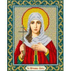 Набор для вышивания бисером Святая Лариса, 20х25 , Паутинка