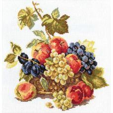 Вышивка Яблоки и виноград, 25x25, Алиса