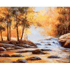 Раскраска Золотая осень, 40x50, Белоснежка