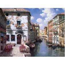 Картина по номерам Венецианские дома, 40x50, Белоснежка