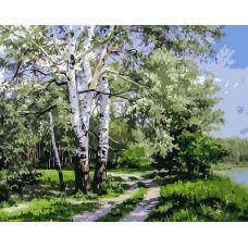 Картина по номерам Белая береза Геннадия Кириченко, 40x50, Белоснежка