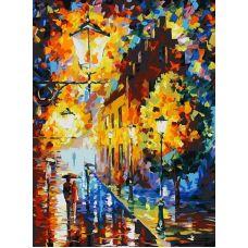 Раскраска Огни в ночи, Л. Афремов, 30x40, Белоснежка