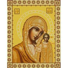 Ткань для вышивания бисером Богородица Казанская, 29х37, Конек