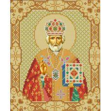 Ткань для вышивания бисером Святой Николай Чудотворец, 20х25, Конек