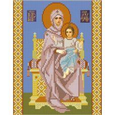 Ткань для вышивания бисером Богородица на Престоле, 20х25, Конек