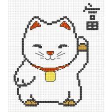 Набор для вышивания Кот удачи, 8x12, Овен