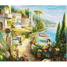 Раскраска Итальянский городок, 40x50, Белоснежка