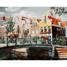 Картина по номерам Амстердам. Мост через канал, 40x50, Белоснежка