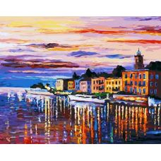 Раскраска Озеро Комо - Белладжио, Л. Афремов, 40x50, Белоснежка