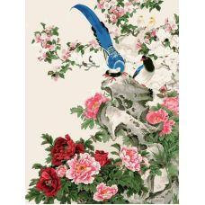 Раскраска Райские птицы, 30x40, Белоснежка
