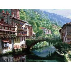 Раскраска Древний мост через нив, 40x50, Белоснежка