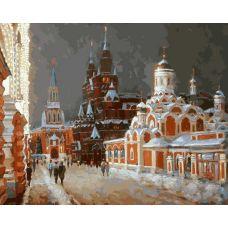 Живопись по номерам Перед рождеством Игоря Разживина, 40x50, Белоснежка