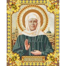 Ткань для вышивания бисером Святая Матрона Московская, 20x25, Конек