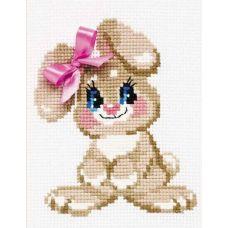 Набор для вышивания Крольчонок, 15x18, Риолис Веселая пчёлка