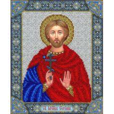 Вышивка бисером Святой Евгений, 20x25, Паутинка