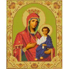Ткань для вышивания бисером Иверская Богородица, 20х25, Конек