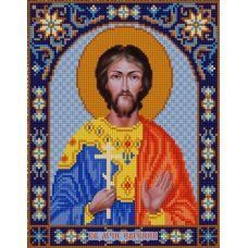 Ткань для вышивания бисером Святой Евгений, 20х25, Конек