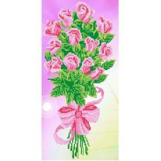 Стразы Розовые розы. Частичная выкладка, 36x64, Leisuretime
