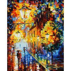 Раскраска Огни в ночи, Л. Афремов, 40x50, Белоснежка