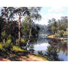 Живопись по номерам Моя Карелия, 40x50, Белоснежка