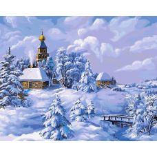 Раскраска Зима в деревне Виктора Цыганова, 40x50, Белоснежка