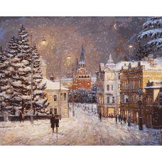 Живопись по номерам Снег на Волхонке Игоря Разживина, 40x50, Белоснежка